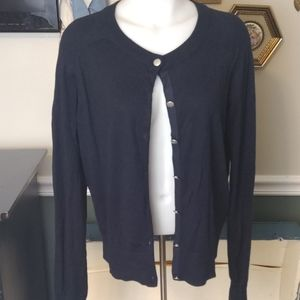 Banana republic size large button-up cardigan Navy